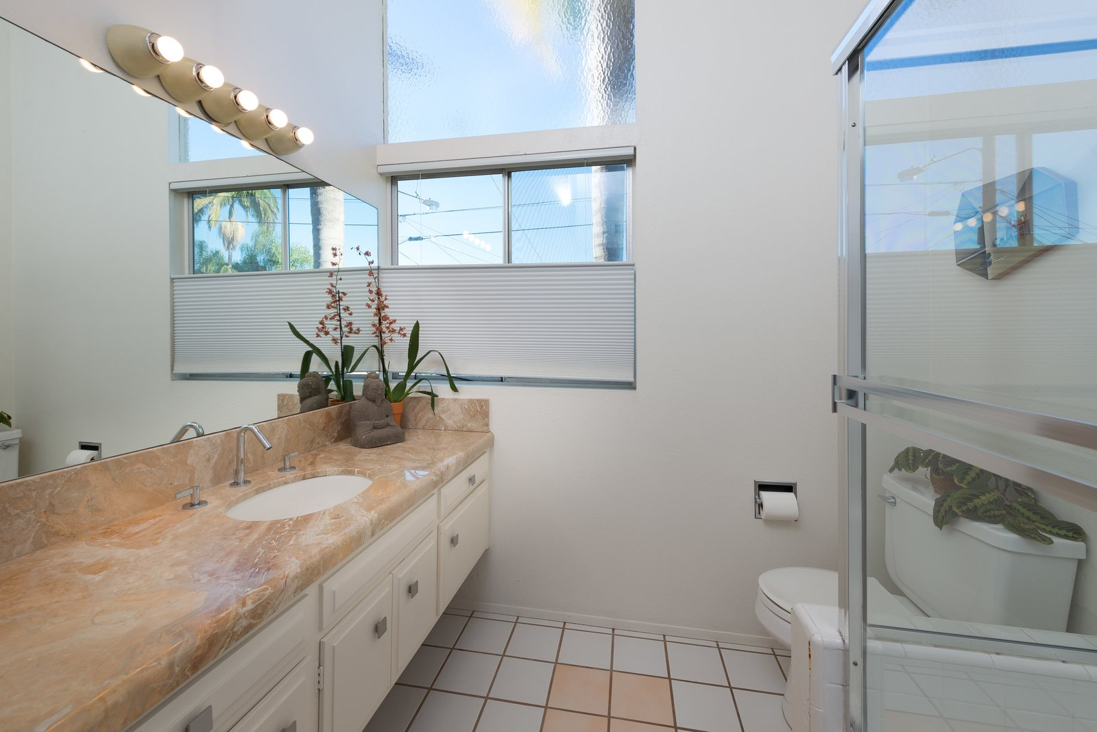 Bath, Wall, Two Piece, Enclosed, and Undermount  Bath Two Piece Undermount Photos from An Immaculate Midcentury Abode in San Diego Asks $1.55M