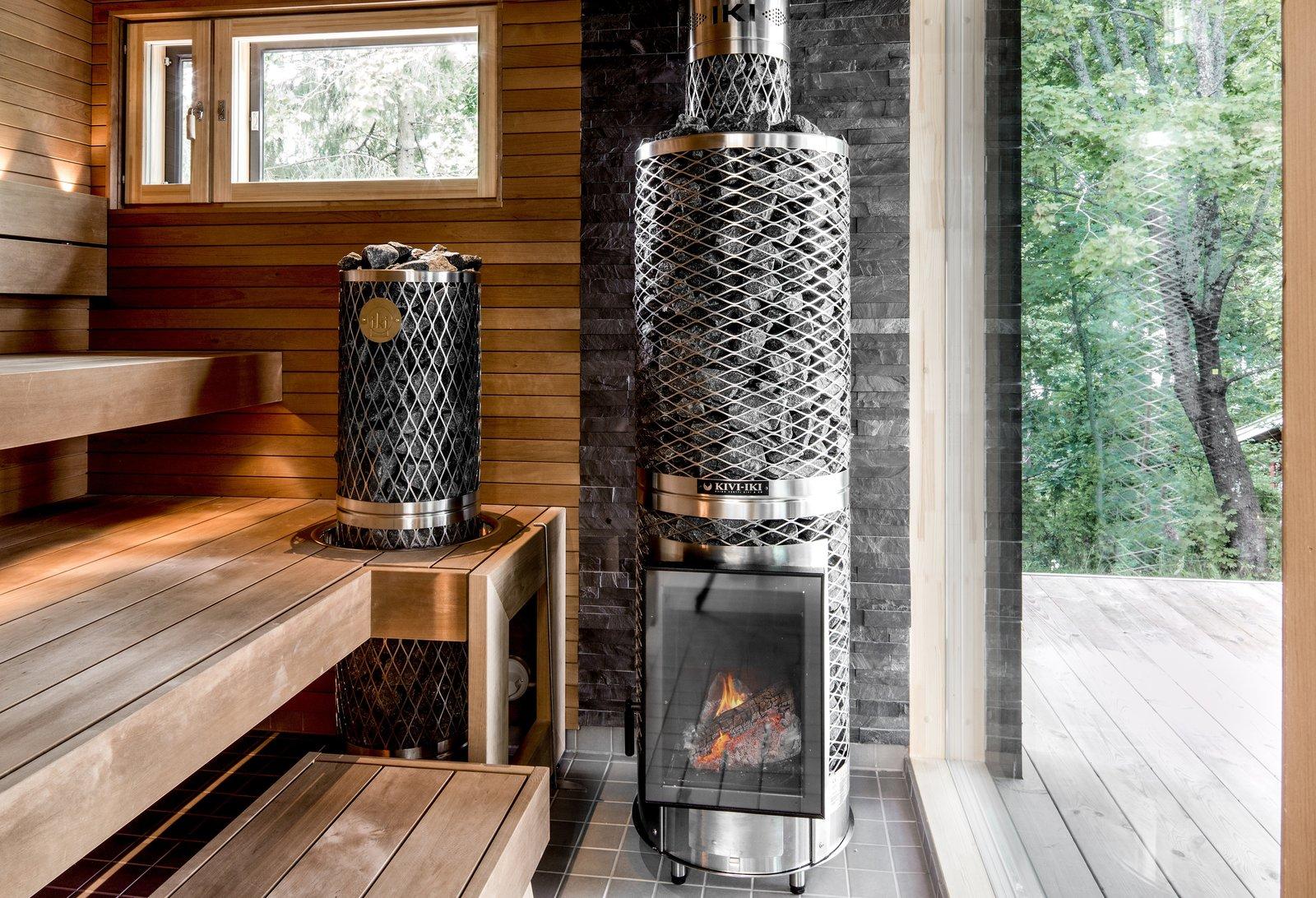 cabin kit homes sauna