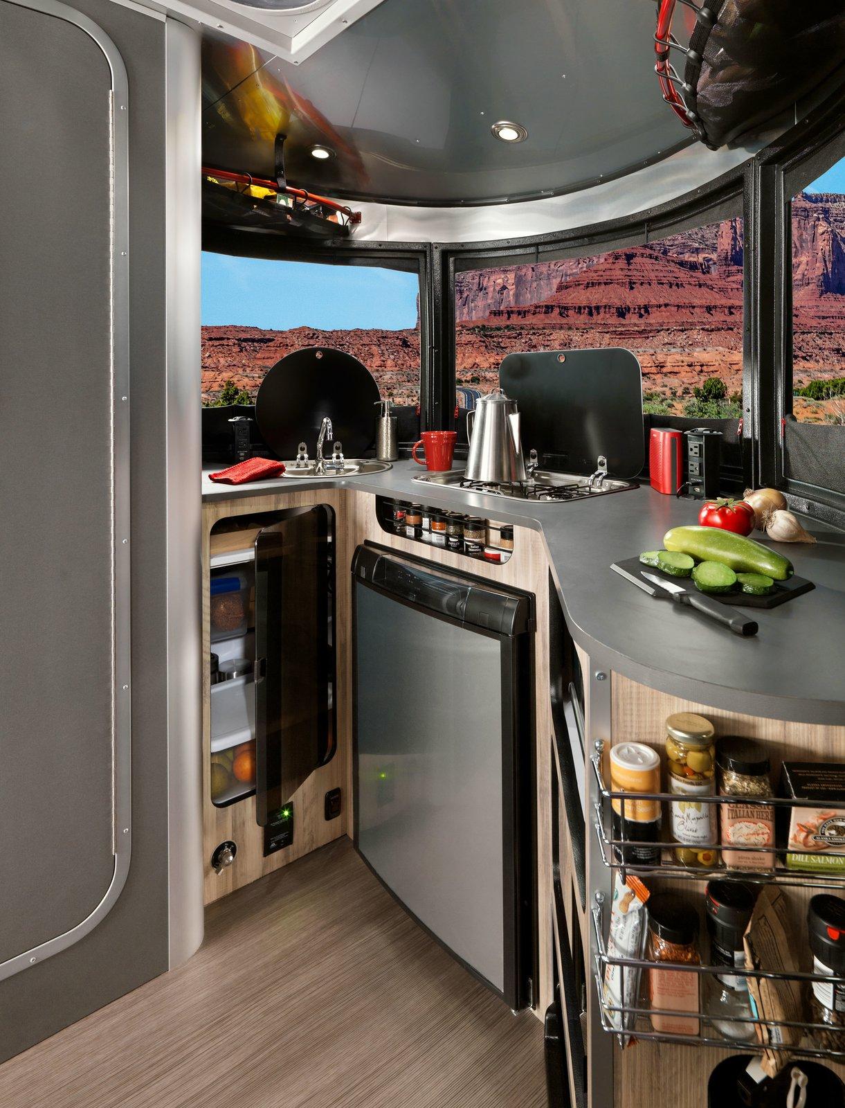 basecamp airstream adventure trailer kitchen