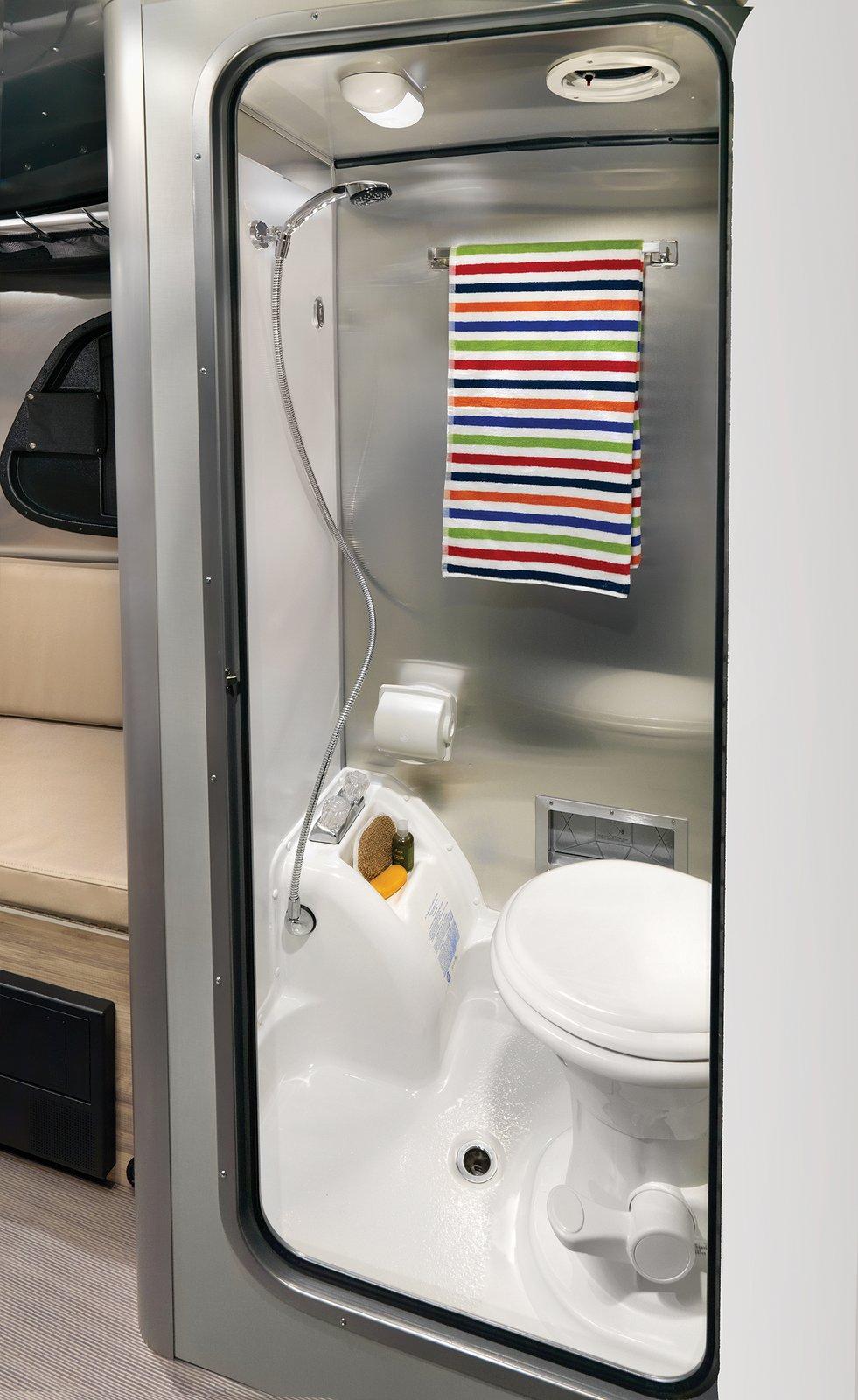 basecamp airstream adventure trailer bathroom shower