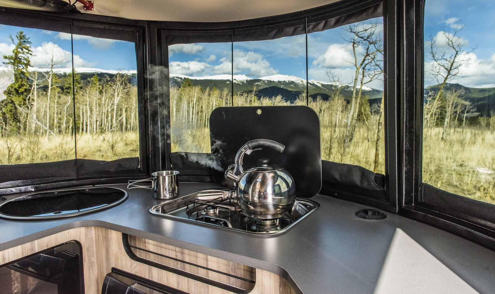 basecamp airstream adventure trailer kitchen
