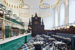 A Historic Church in London Hosts a New Cantonese Restaurant and Art Gallery
