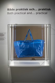 IKEA's signature blue Frakta shopping bags