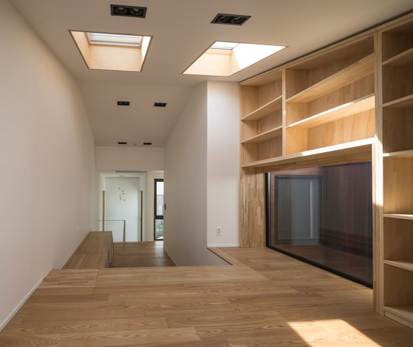 Skylights on the second level of the house