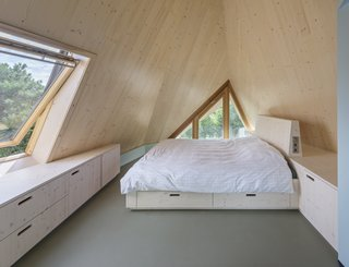 An attic bedroom