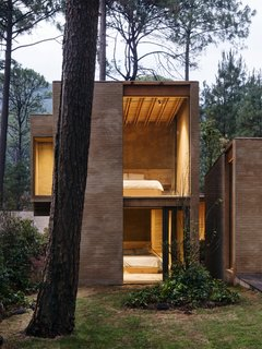 Five Cubist Hideaways Peek Out From a Mexican Pine Forest - Photo 16 of 17 - The bedrooms in the lower and upper level