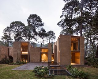 Five Cubist Hideaways Peek Out From a Mexican Pine Forest - Photo 5 of 17 - The house is composed of six volumes whose layout creates a void in the center.
