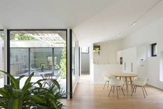 A Belgian Architect's Courtyard House Offers Work/Life Balance - Photo 6 of 13 - The courtyard connects to all the zones in the house.
