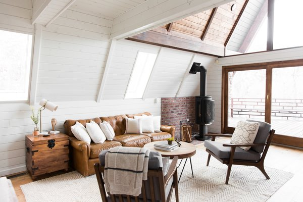An old European-style fireplace for cozy, post-ski evenings.