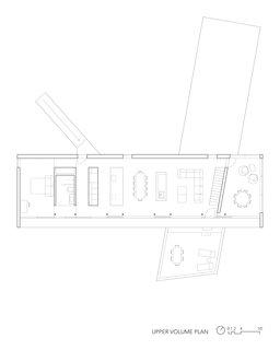 Floor plan for the upper volume
