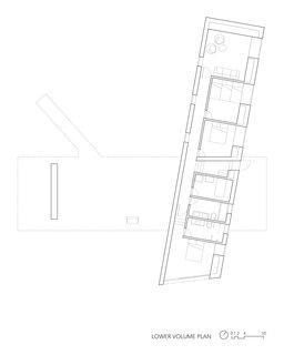 Floor plan for the lower volume