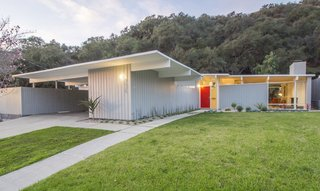 Architect David Lopez designed this post-and-beam home in 1954.