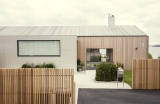 The updated home in Norway's Snarøya peninsula.