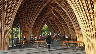 These Designs Take Bamboo Infrastructure to a New Level - Photo 4 of 18 - A quick look at the Ting Xi Bamboo Restaurant in Xiamen, China.