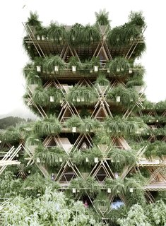 These Designs Take Bamboo Infrastructure to a New Level - Photo 7 of 18 - The future possibilities for Penda's Rising Cane system.