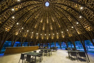 These Designs Take Bamboo Infrastructure to a New Level - Photo 3 of 18 - The beautiful Son La Ceremony Dome by Vo Trong Nghia Architects.