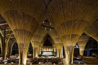 These Designs Take Bamboo Infrastructure to a New Level - Photo 2 of 18 - Inside Vietnam's Hay Hay restaurant and bar at The Naman Retreat hotel.