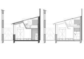 Before and After: A Renovated Artist's Studio Is Now an Airy, Efficient Home - Photo 15 of 16 - Cross sectional plans