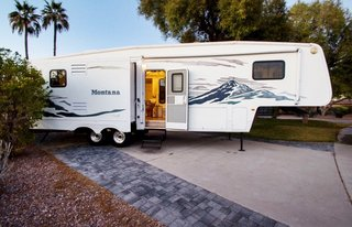 10 Things You Should Know Before Moving Into a Tiny Home - Photo 14 of 20 - The Sholins purchased this Keystone Montana Fifth Wheel camper in Arizona.
