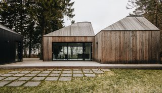 This Forest Retreat Is a Modern Take on the Traditional Estonian Hut - Photo 4 of 12 - The living areas have north- and south-facing glass walls.