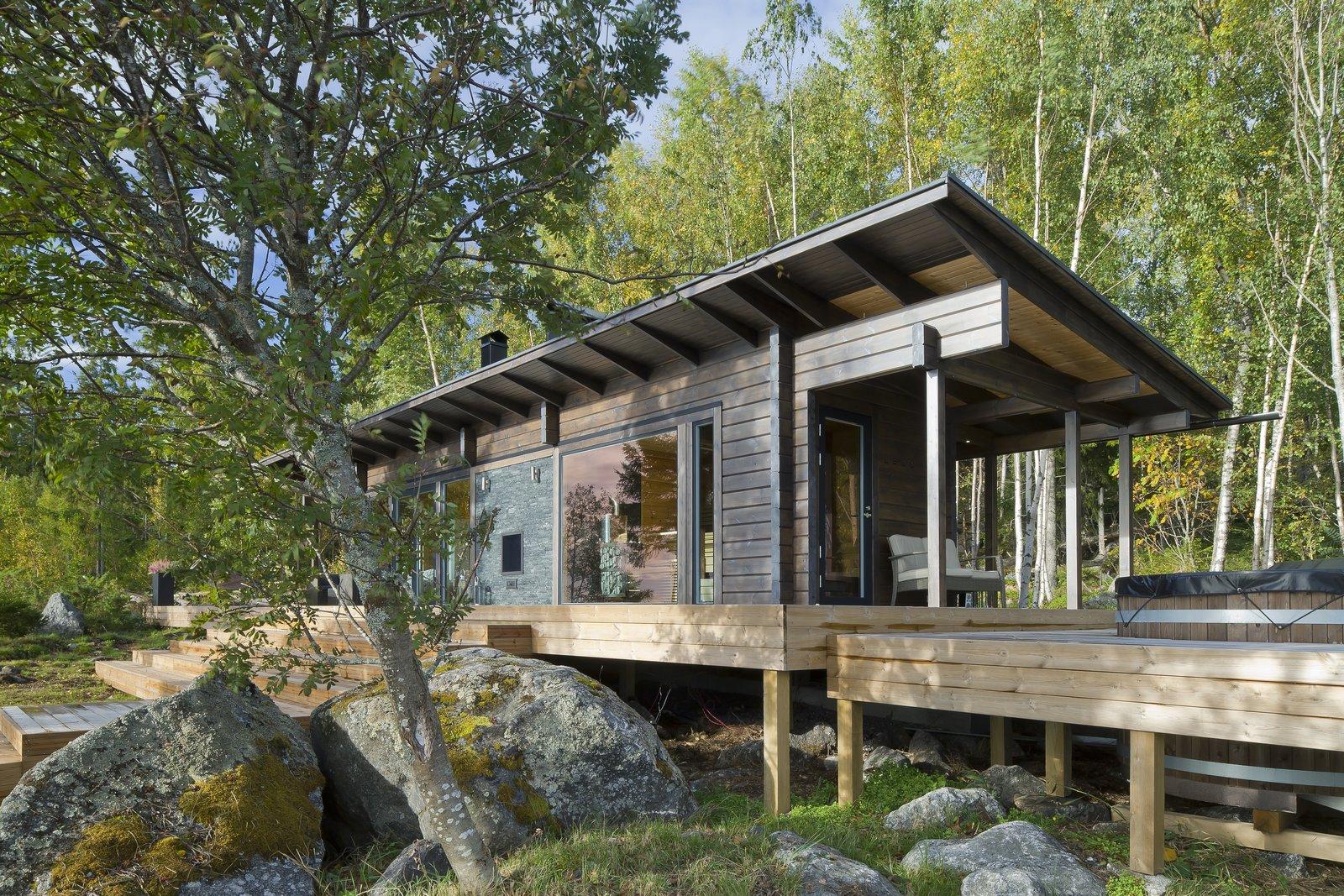 Kide log cabin kit home exterior