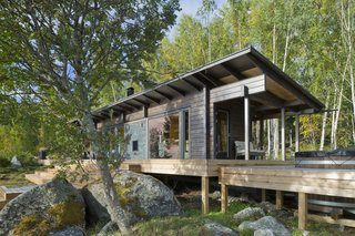 Located on the country's west coast, this wilderness sauna cabin was built with square logs that are four inches thick, and has a 1,028-square-foot outdoor terrace.