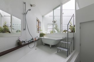A bathroom leads out to one of the roof terraces.