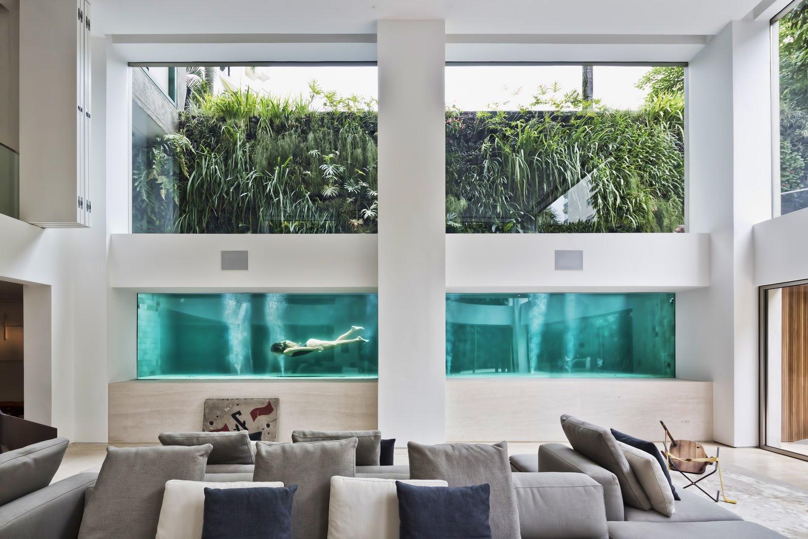A Mesmerizing Pool Dominates This Brazilian Home
