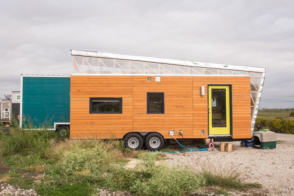 The house's owner is an architecture student at the University of Texas at Austin, and this is his first full-scale project that he's designed and built.