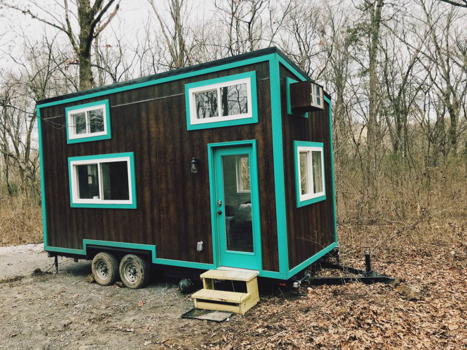 Try It Tiny also has pop-up tiny house hotels, where they bring tiny houses to events around the country for attendees to stay in on-site.