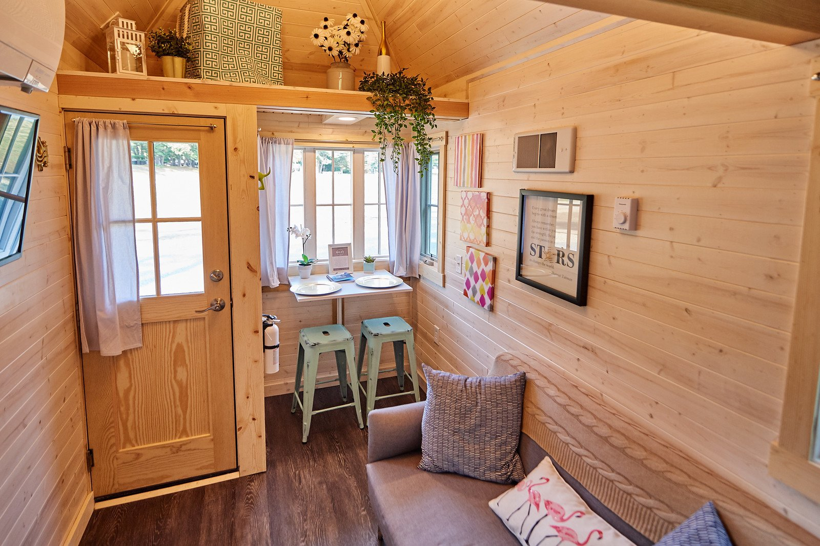 Tumbleweed's tiny house hotels, such as this 305-square-feet property named Riley, can be found in ten locations across North America.