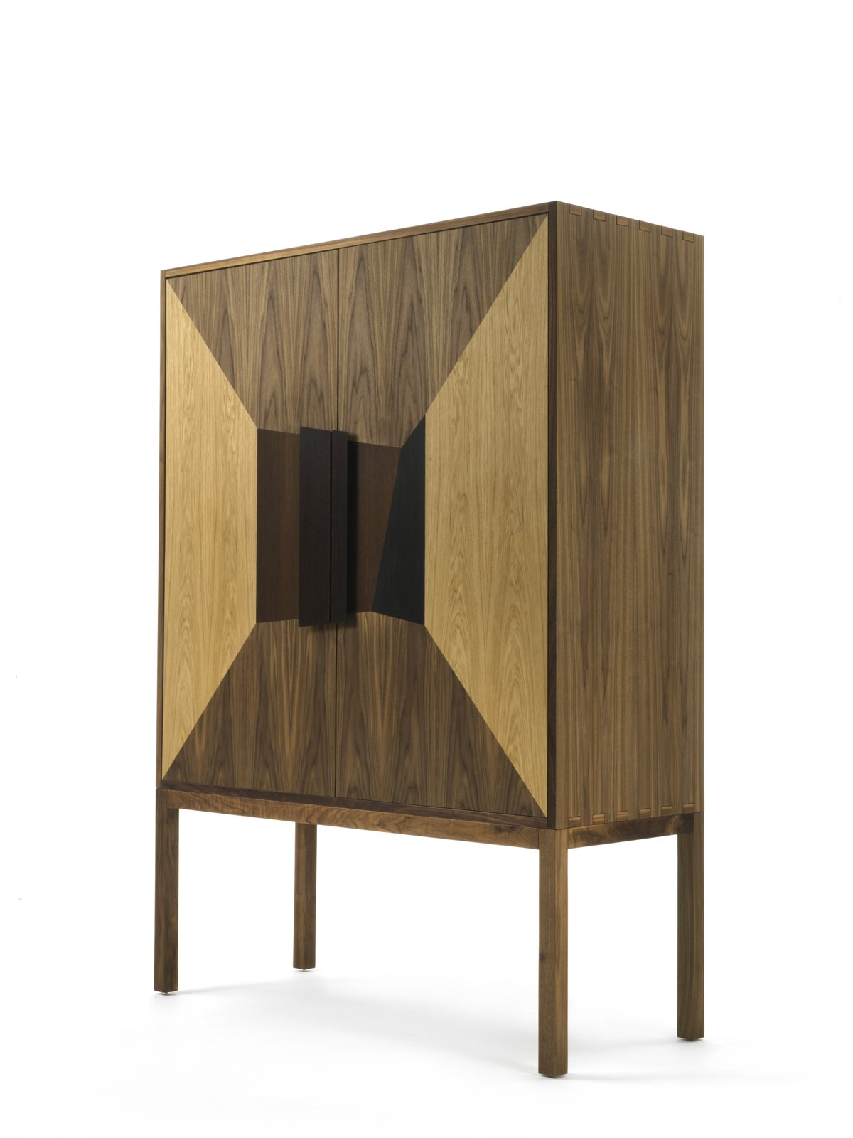The DeKauri freestanding vanity credenza is made with 50,000-year-old Kauri wood.