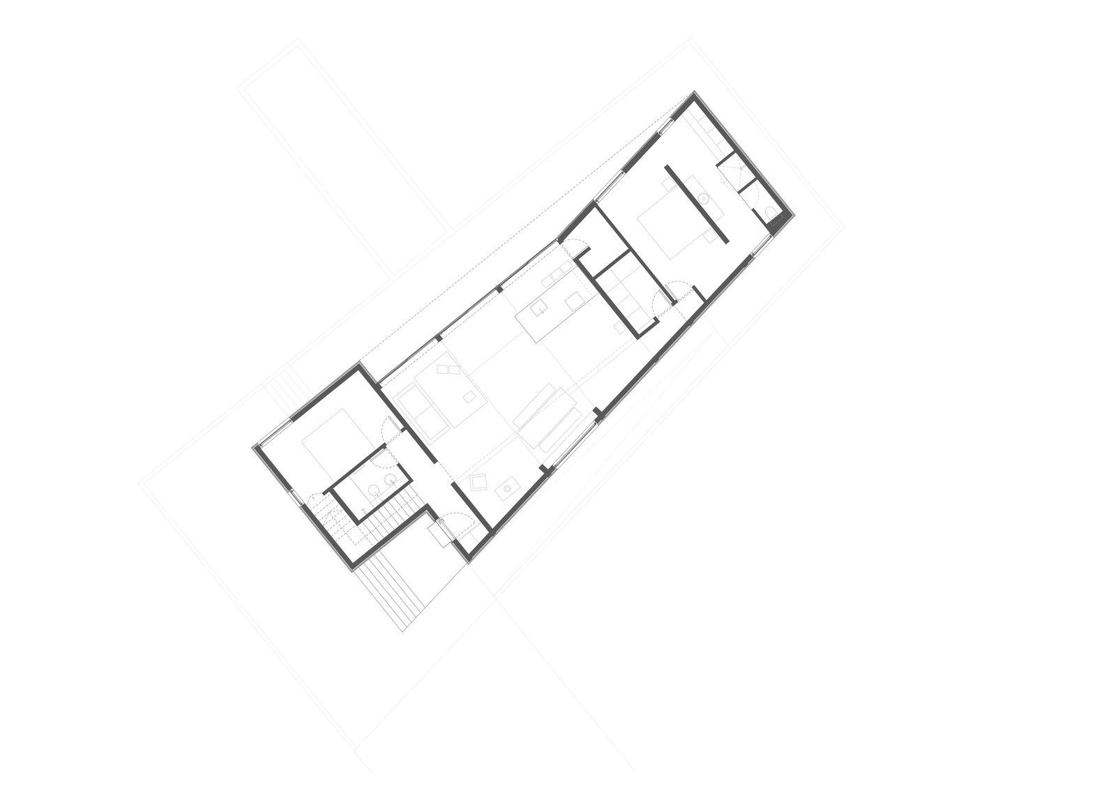 Ground level floor plan drawing.