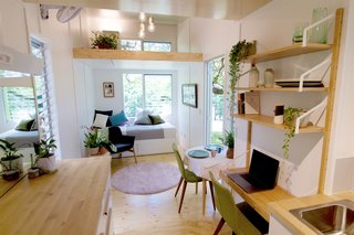 This Midcentury-Inspired Tiny House Radiates Clever Design - Photo 4 of 10 - Designed to adapt and expand with the changing needs and budget of its owner, Swallowtail's structure and floor plan allow for a flexible arrangement of furniture.