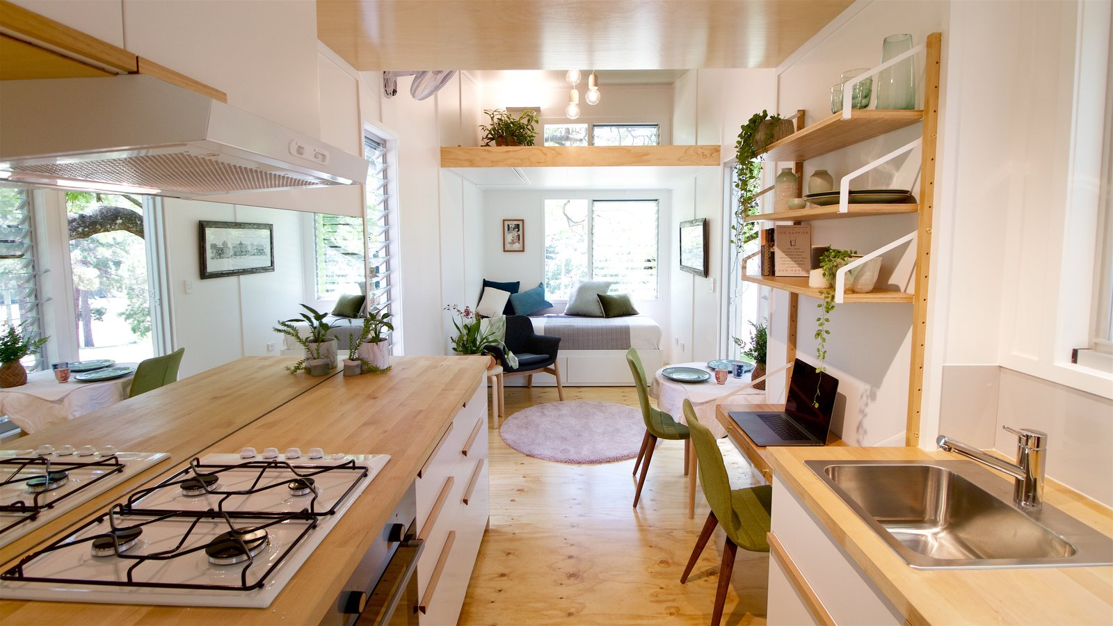 this midcentury inspired tiny house radiates clever design dwell