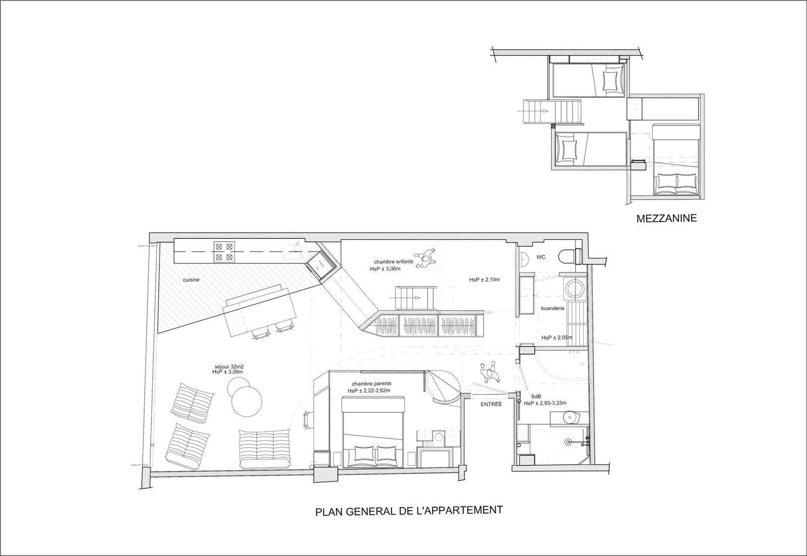 Floor plan for the new apartment.