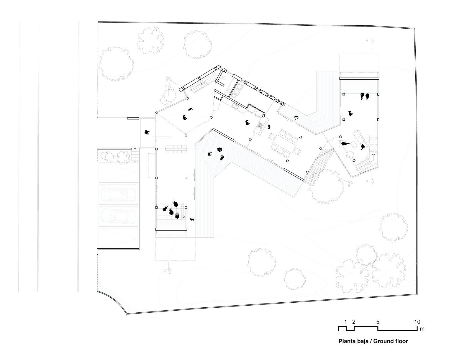 Ground level floor plan.