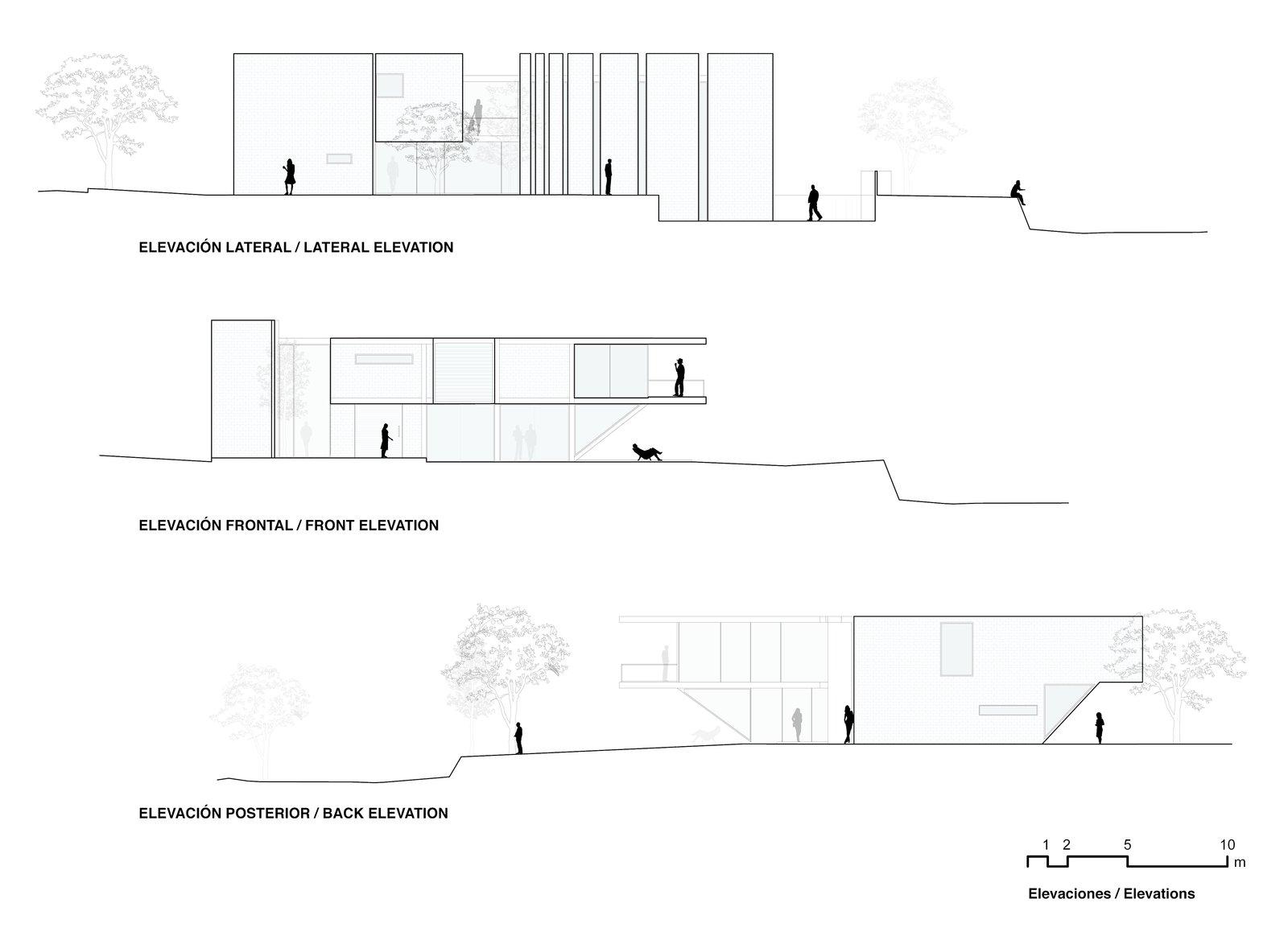 Cross sectional drawings.
