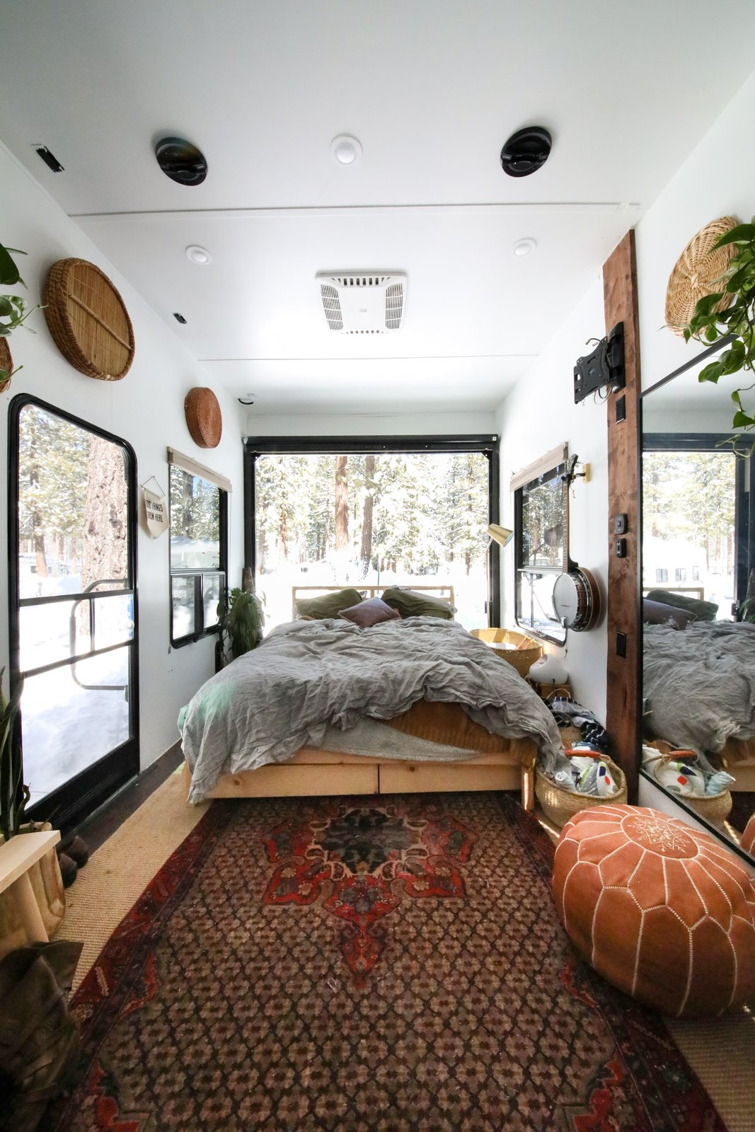 Autumn and Rusty's bedroom is a space where the couple can relax and recharge after a long day.
