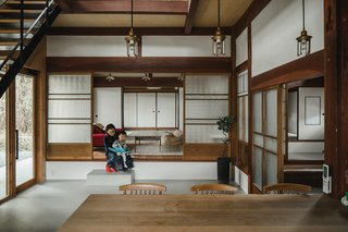 After: Staying true to the aesthetics of traditional, Japanese rural homes, architect Sumiou Mizumoto stuck with simple color and material choices. White and wood elements dominate pure, streamlined spaces.