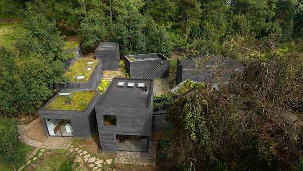 Nine Black Concrete Volumes Form This Mexican Retreat