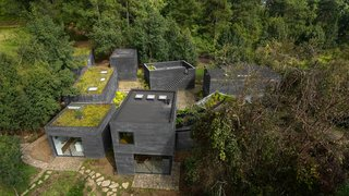 Nine Black Concrete Volumes Form This Mexican Retreat