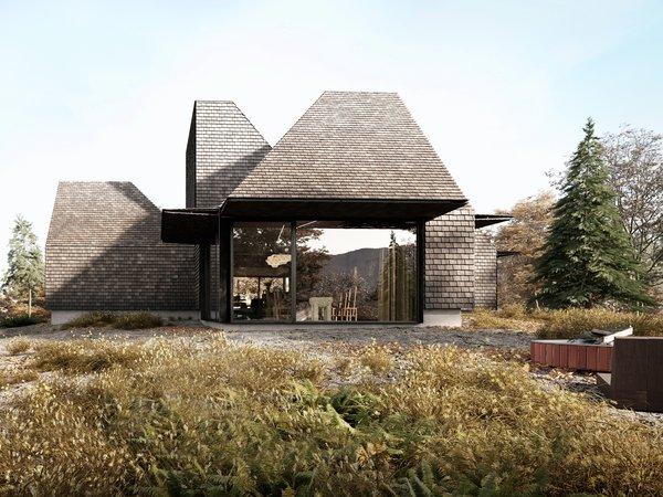 Five Modular Cabins Form a Sculptural Catskill Abode