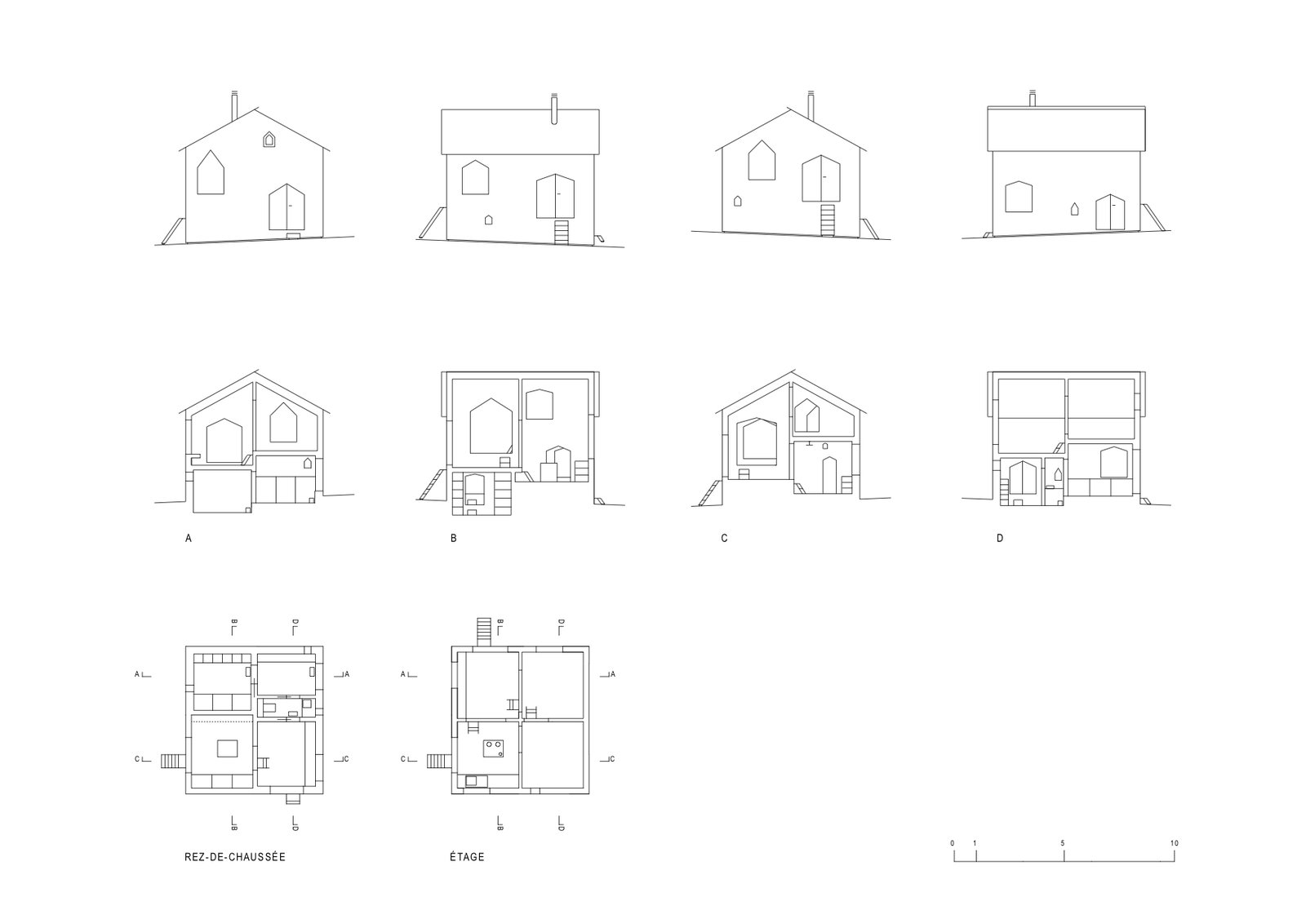 Photo 1 Of 12 In An Outdated Swiss Chalet Is Treated To A Playful Newlook Here Look At The Sectional Drawings Eight Sides