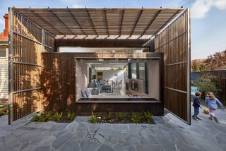 Wooden Screens Shade This Sustainable Melbourne Residence