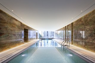 This is one of the only buildings in New York City with a pool that has direct park views, enabling residents to feel connected with nature while swimming.