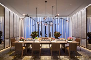 Here is a look at the luxurious and stylish dining room.