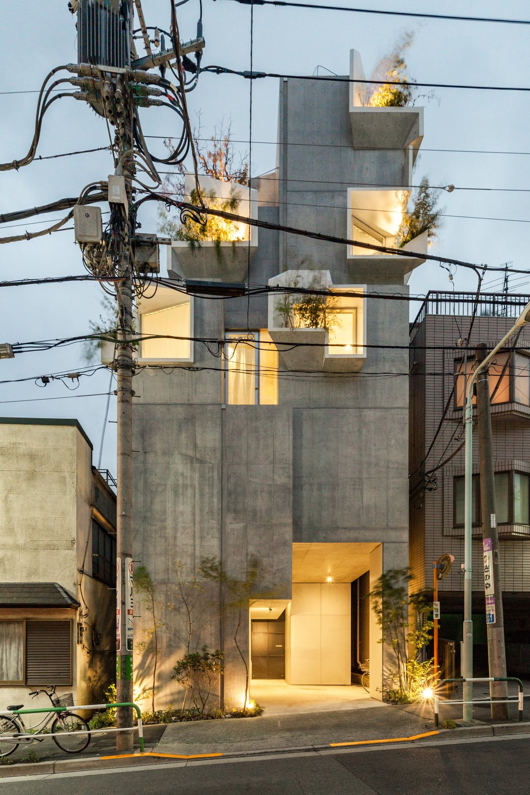 The result is a low-rise residential complex with features that correspond to the trunk, branches, and leaves of trees, which served as Hirata's main source of design inspiration.    Photo 5 of 17 in This Futuristic Japanese Building Is Not Your Everyday Tree House