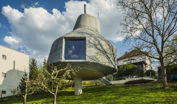 This Quirky Home in Prague Looks Like a Giant Mushroom
