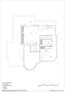 The upper-level floor plan.